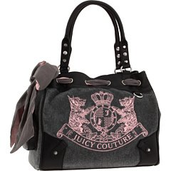 AWESOME 100% Authentic Juicy Couture Scottie Daydreamer Handbag Pink Gray Black