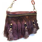Nice 100% Authentic Nicole Lee Feather Brown Fringe Handbag - Other colors available