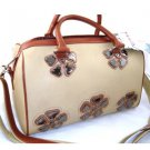 Nice 100% Authentic Nicole Lee Designer  Tan Handbag Purse