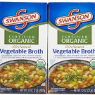 Swanson Organic Vegetarian Vegetable Broth, 32 oz, 2 pk
