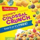 Malt-O-Meal® Brand Cereals, Boxed Cold Cereals, 14-Ounce Box (Berry Colossal Crunch)