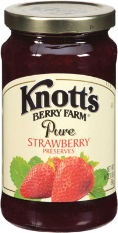Knott's Berry Farm, Pure Strawberry Preserves, 16oz Jar
