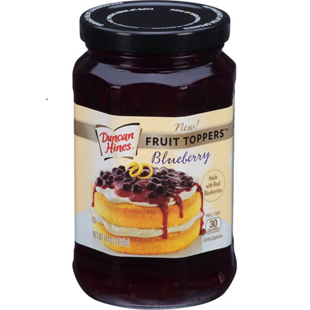 Duncan Hines, Fruit Toppers, 14.4oz Glass Jar (Blueberry)