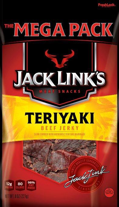Jack Links, Mega Pack, Beef Jerky, Teriyaki, 8 Ounce Bag