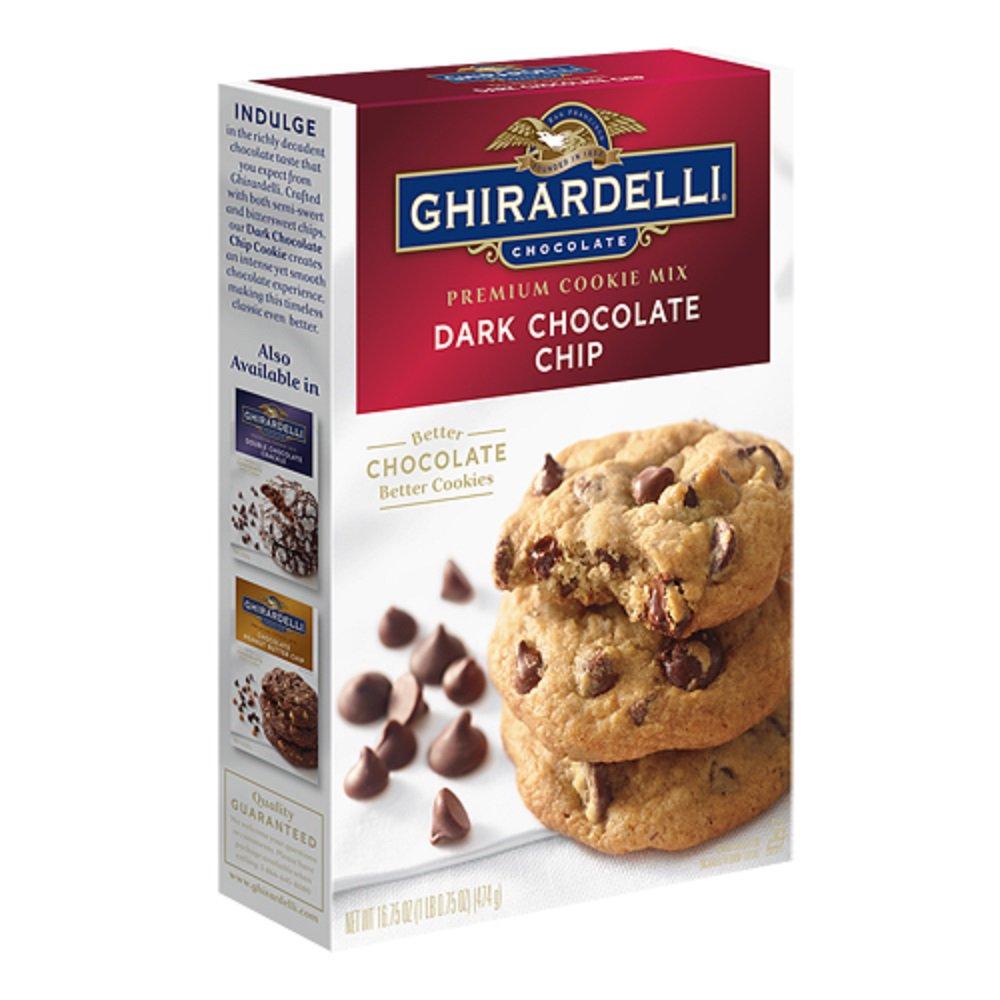 Ghirardelli, Premium Cookie Mixes, 16.75oz Box (Dark Chocolate Chip)