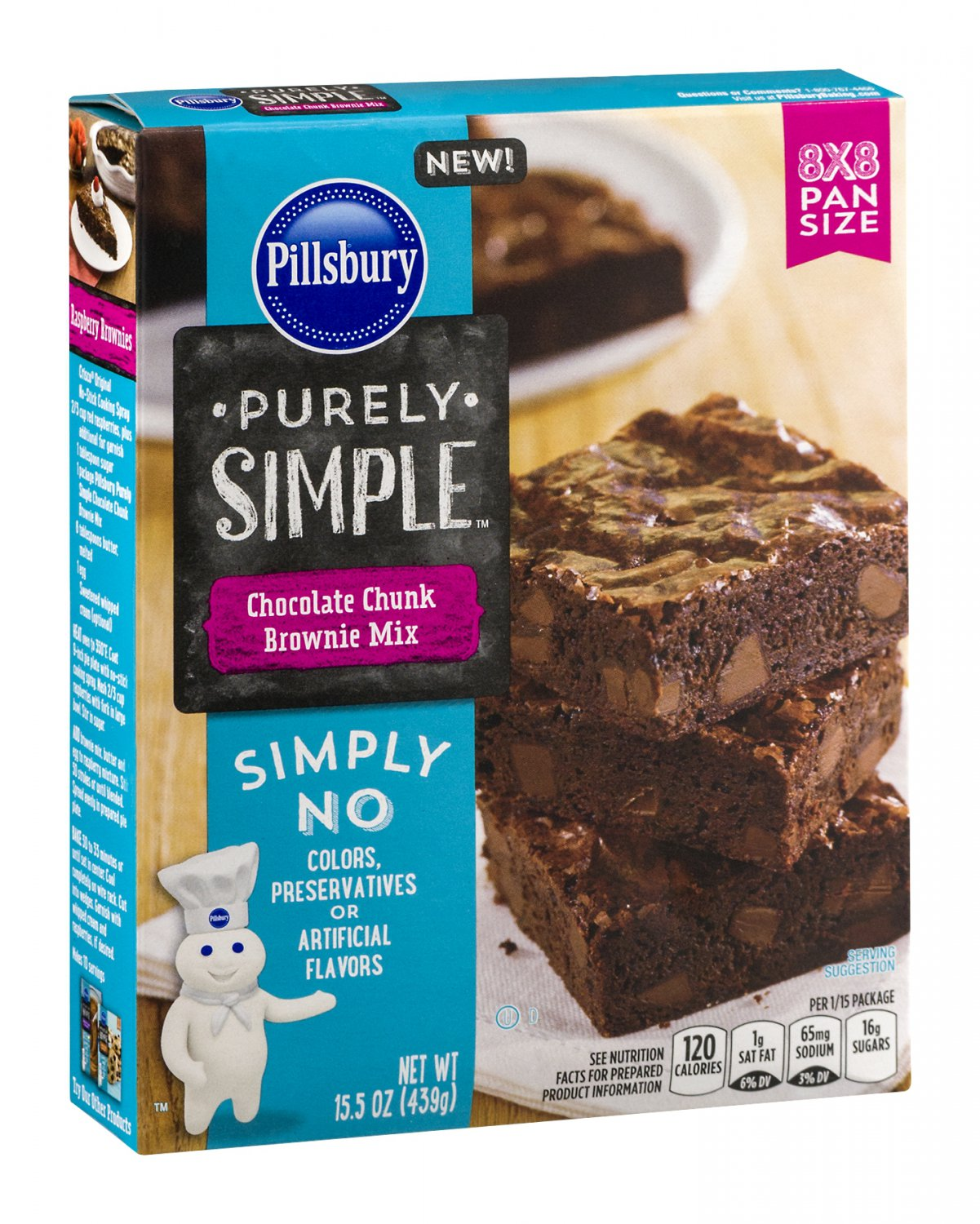Pillsbury, Purely Simple Mixes, 15.5oz Box (Chocolate Chunk Brownie Mix)