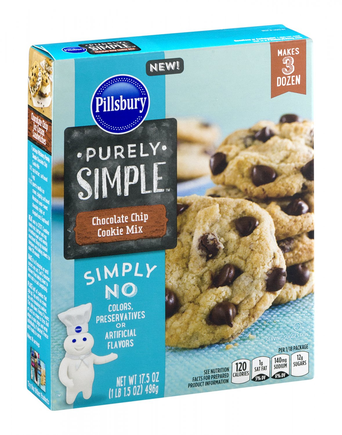 Pillsbury, Purely Simple Mixes, 17.5oz Box (Chocolate Chip Cookie Mix)