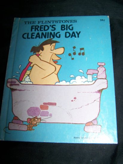 Vintage FLINTSTONES FRED'S BIG CLEANING DAY Wonder Book