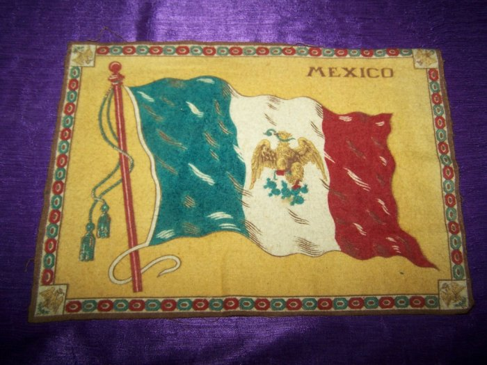 "Antique TOBACCO Felt 11"" SOUTH AUSTRALIA FLAG Premium"