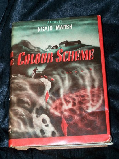 Vintage Spy Thriller COLOUR SCHEME Ngaio Marsh Book DJ