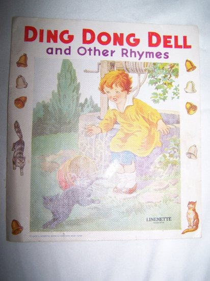 Vintage DING DONG DELL & Other Rhymes Linenette Book