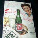 Vintage 1945 7-up 7UP Soda Pop Print Ad ~1940s