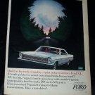 Vintage 1960s FORD GALAXIE 500/XL Night Drive Print Ad