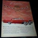 Vintage 1957 CADILLAC Sedan De Ville Ruby Print Ad