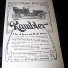 Vintage 1906 RAMBLER Model 15 Car Print Ad