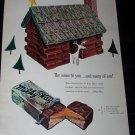 Vintage 1953 MILKY WAY Candy Bar CHRISTMAS Print Ad