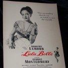 Vintage 1948 LULU BELLE Dorothy Lamour Movie Print Ad