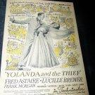 Vintage 1945 YOLANDA THIEF Fred Astaire Movie Print Ad