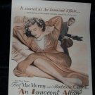 Vintage 1948 INNOCENT AFFAIR Madeleine Carroll Print Ad