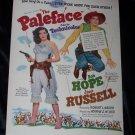 Vintage 1948 PALEFACE Jane Russell Bob Hope Print Ad