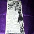 Vintage 1943 PEQUOT SHEETS Angry Wife Window Print Ad