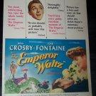 Vintage EMPEROR WALTZ Joan Fontain Bing Crosby Print Ad