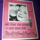 Vintage GLENN MILLER STORY James Stewart Movie Print Ad