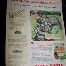 Vintage 1940s PUSS N BOOTS Manx Cat Pet Food Print Ad