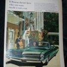 Vintage 1966 PONTIAC Wide-Track Bonneville Car Print Ad