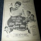 Vintage 1946 DO YOU LOVE Maureen O'Hara Movie Print Ad