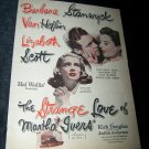 Vintage STRANGE LOVE OF MARTHA IVERS Lizbeth Scott & Barbara Stanwyck Print Ad
