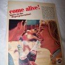 Vintage 1964 PEPSI Cola Our Generation Teenage Print Ad