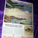 Vintage 1943 STUDEBAKER FLYING FORTRESS Plane Print Ad