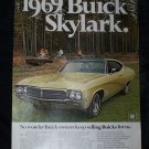 Vintage 1969 BUICK SKYLARK Great Outdoors Camp Print Ad