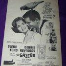 Vintage 1959 GAZEBO Glenn Ford Debbie Reynolds Print Ad