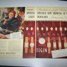 Vintage 1937 Elgin Ladies Watches 2 Page Print Ad