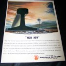 Vintage 1945 HIGH IRON American Railroads Print Ad