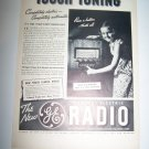 Vintage 1937 GE GENERAL ELECTRIC Radio Touch Print Ad