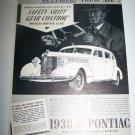 Vintage 1937 PONTIAC Silver Streak Automobile Print Ad