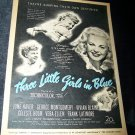 Vintage 1946 THREE LITTLE GIRLS IN BLUE Movie Print Ad