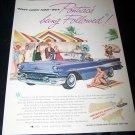 Vintage 1957 PONTIAC Strato-Streak Purple Print Ad