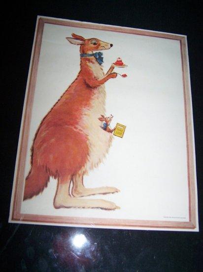 Vintage 1954 JELL-0 JELLO KANGAROO Print Premium Ad