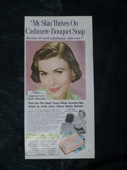 Vintage 1950s CASHMERE SOAP ELLEN WILLIAMS AD