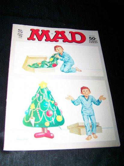 Vintage MAD MAGAZINE #172 Jan 1975 Christmas Issue ~VG