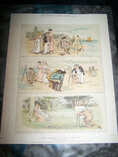 Legend Old Chromer Painter Randolph Caldecot Art Print