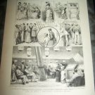 Antique 1882 GRAPHIC Life on Maritime Steamer Art Print