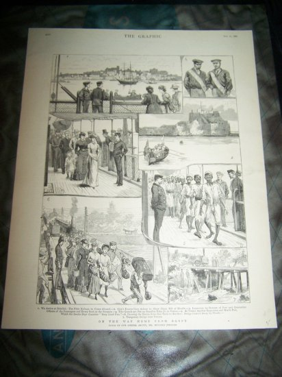 Antique 1882 GRAPHIC On Way Home from Egypt Art Print