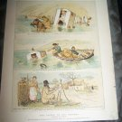 Antique LEGEND OLD CHROMER Randolph Caldecott Art Print