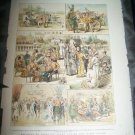 Antique 1882 GRAPHIC HOLIDAYS IN INDIA Poona Art Print