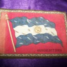 "Antique TOBACCO Flannel Felt 8"" ARGENTINA FLAG Premium"